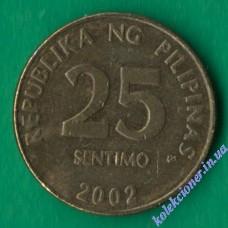 25 сентимо 2002 года Филиппины