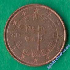 1 евроцент 2007 года Португалия
