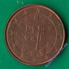 1 евроцент 2008 года Португалия