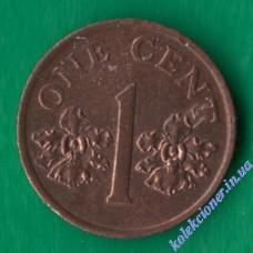 1 цент 1995 года Сингапур