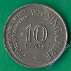 10 центов 1976 года Сингапур
