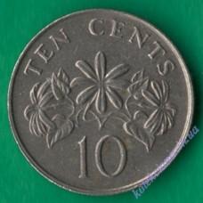 10 центов 1988 года Сингапур
