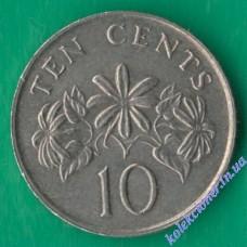 10 центов 1991 года Сингапур