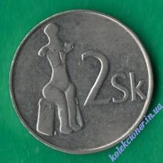 2 кроны 1993 года Словакия