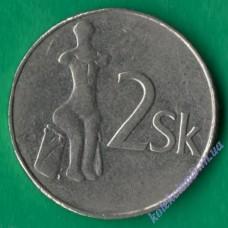 2 кроны 1995 года Словакия