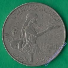 1 динар 1983 года Тунис