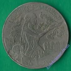 1 динар 1988 года Тунис