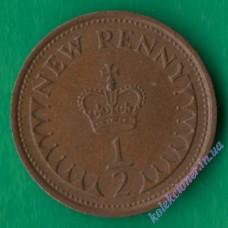 1/2 новых пенни 1976 года Великобритания