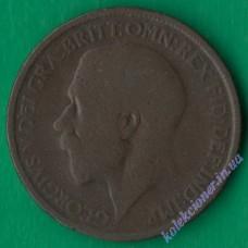 1/2 пенни 1917 года Великобритания