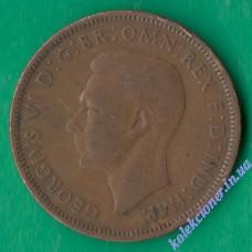 1/2 пенни 1944 года Великобритания