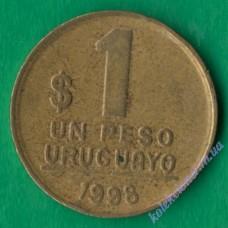 1 песо 1998 года Уругвай