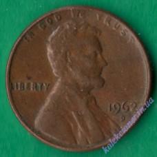 1 цент 1962 года D США