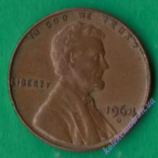 1 цент 1964 года D США
