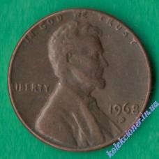 1 цент 1968 года D США