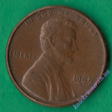 1 цент 1969 года D США