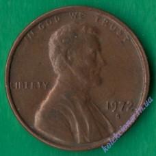 1 цент 1972 года S США