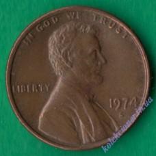 1 цент 1974 года S США