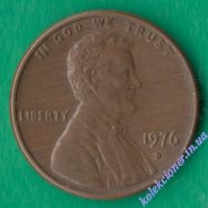 1 цент 1976 року D США