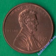 1 цент 1997 года D США