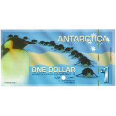 1 доллар 2007 года UNC Антарктика